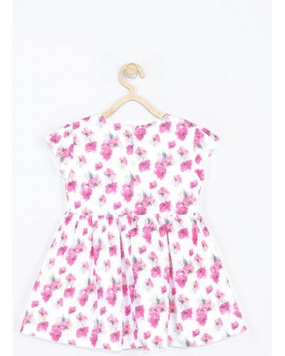 Платье с рукавами белое расклешенное Coccodrillo