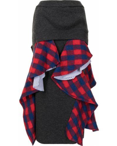 Wełniany niebieski asymetryczny spódnica Enfold