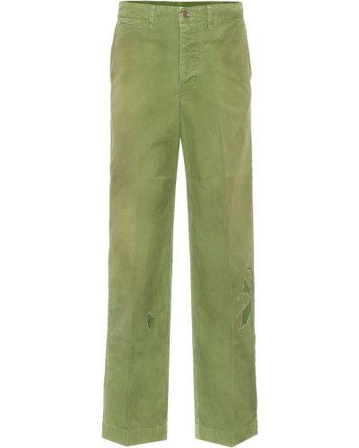 Ватные хлопковые зеленые базовые джинсы Visvim