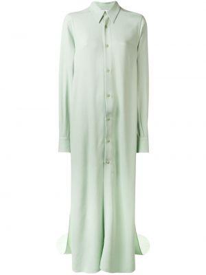 Платье макси с длинными рукавами - зеленое Ami Paris
