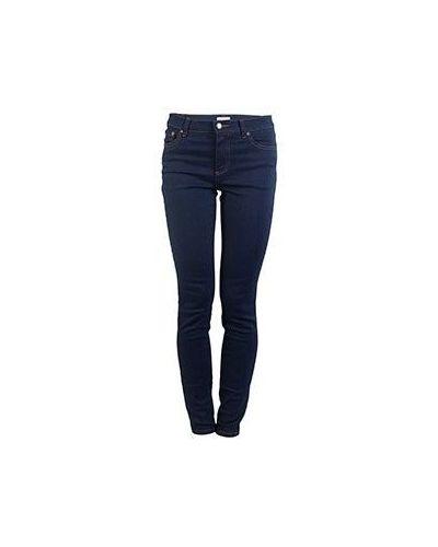 Синие джинсы-скинни Valentino Red