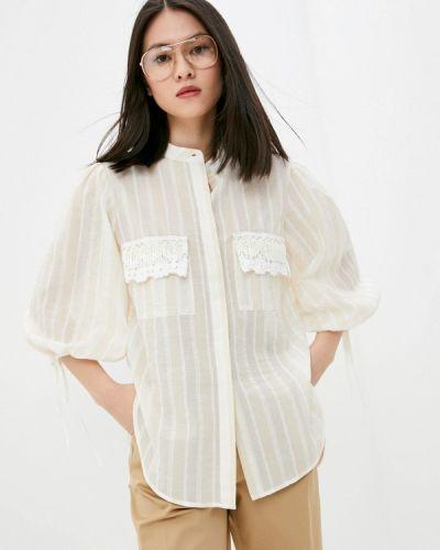 Бежевая блузка с длинными рукавами Beatrice.b