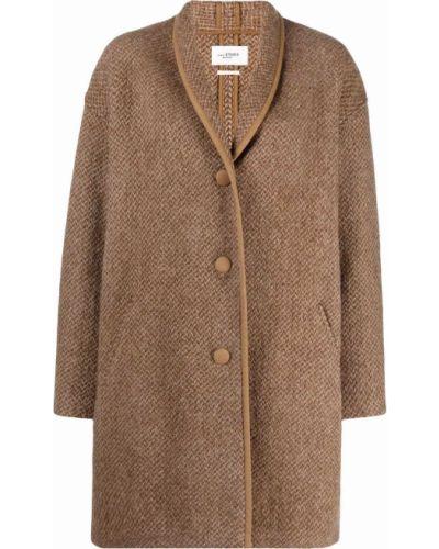 Коричневое пальто на пуговицах Isabel Marant étoile
