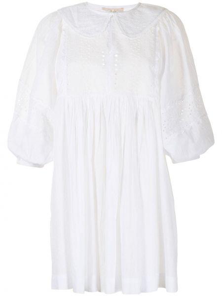 Biała sukienka mini bawełniana Bytimo