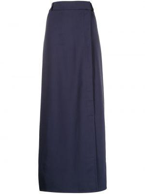 Синяя юбка макси из вискозы Victoria, Victoria Beckham