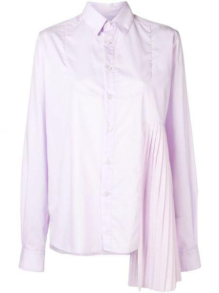 Różowa koszula bawełniana z długimi rękawami Each X Other
