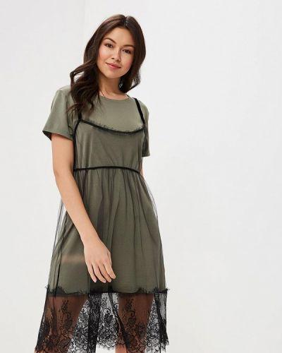 Платье весеннее хаки Mirasezar