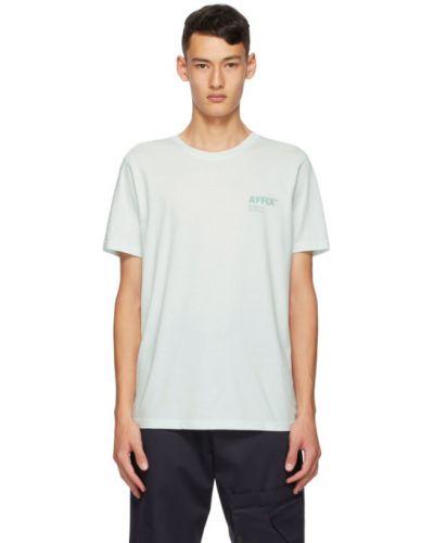 Хлопковая с рукавами рубашка с короткими рукавами с воротником мятная Affix