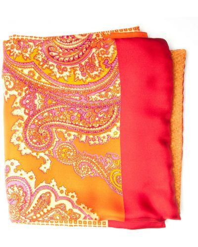 Оранжевый шарф итальянский Gallieni