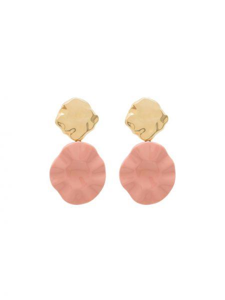Różowe złote kolczyki sztyfty pozłacane Joanna Laura Constantine