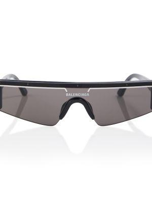 Муслиновые черные солнцезащитные очки прямоугольные Balenciaga