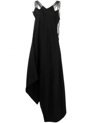 Шерстяное платье - черное Yohji Yamamoto