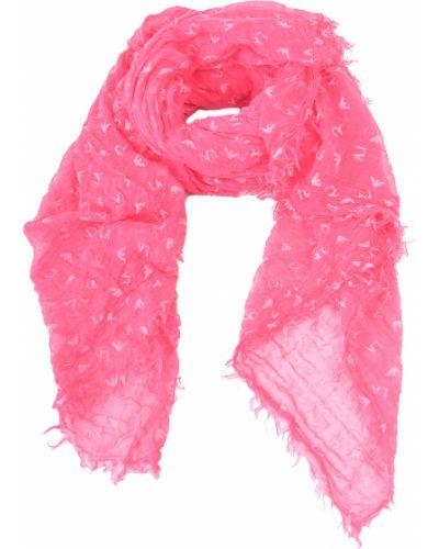 Шарф весенний розовый Armani Jeans