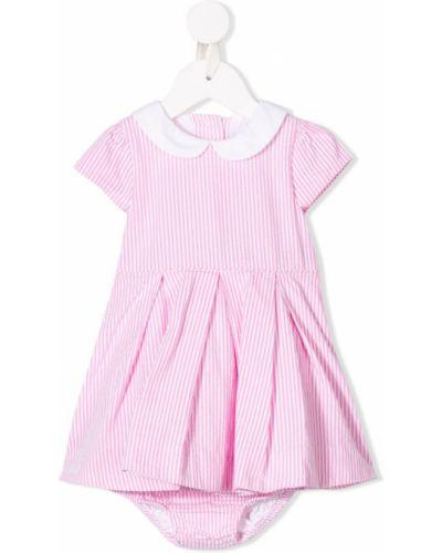 Платье хлопковое розовый Ralph Lauren Kids