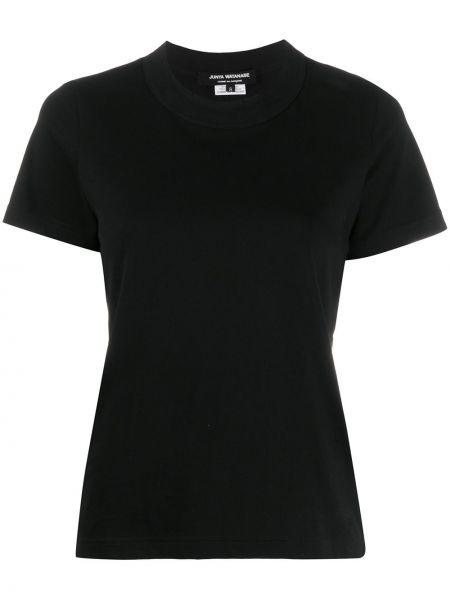 Черная прямая рубашка с коротким рукавом с лебяжьим пухом круглая Junya Watanabe Comme Des Garçons Pre-owned