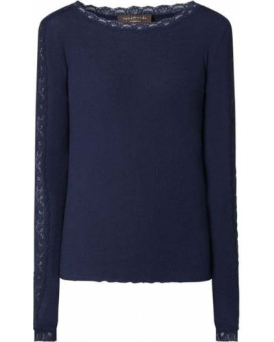 Prążkowana niebieska bluzka bawełniana Rosemunde