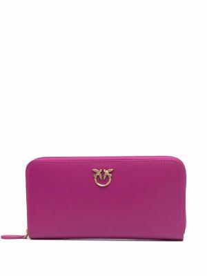 Розовая кожаная барсетка Pinko