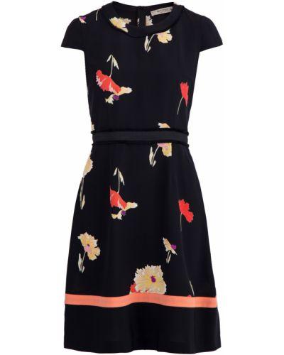 Платье с поясом с цветочным принтом персиковое Etro