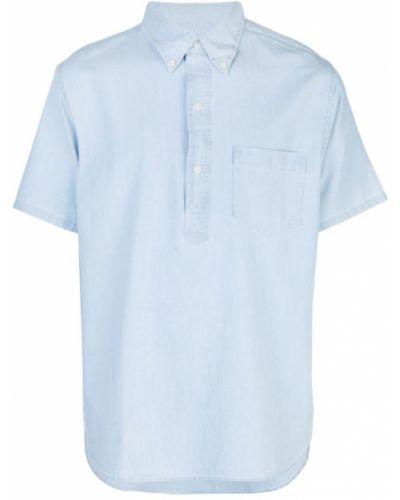 Рубашка с короткими рукавами с карманами синий Best Made Co