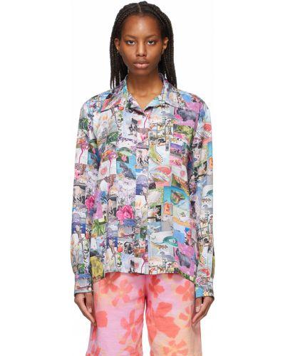 Koszula z jedwabiu Collina Strada