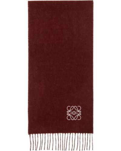 Z kaszmiru szalik - różowy Loewe