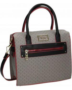 Skórzana torebka torba na torbę z logo Nobo