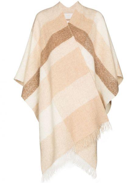 Шерстяное вязаное пончо с бахромой Lauren Manoogian