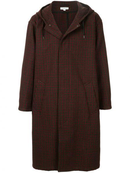 Красное прямое длинное пальто на молнии Tomorrowland