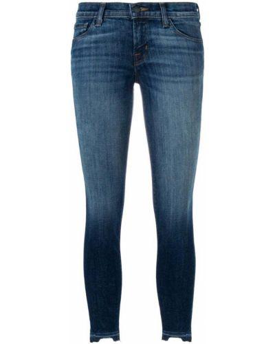Джинсы-скинни с карманами синие J Brand