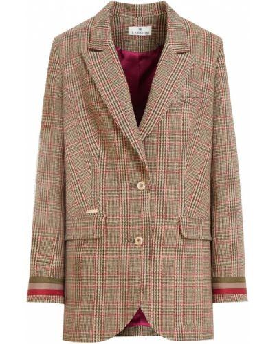 Повседневный акриловый свободные однобортный удлиненный пиджак Laroom