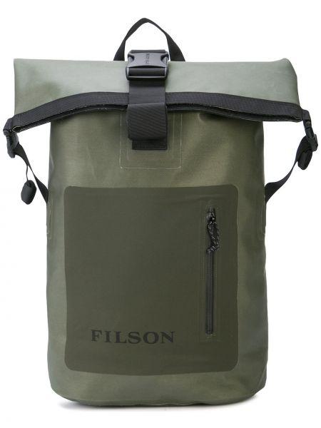 Zielony plecak klamry z nylonu Filson