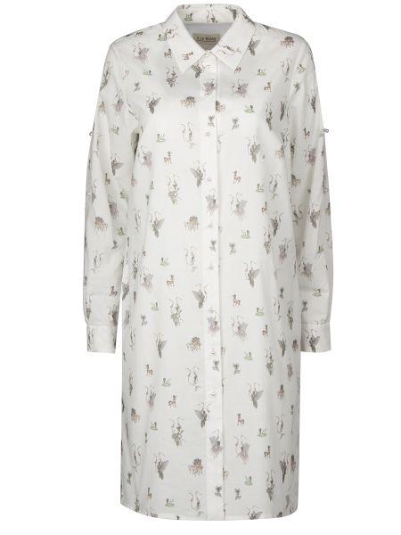 Белая рубашка с манжетами с воротником на пуговицах A La Russe
