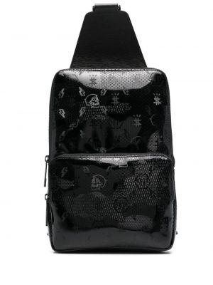 Кожаный рюкзак - черный Philipp Plein