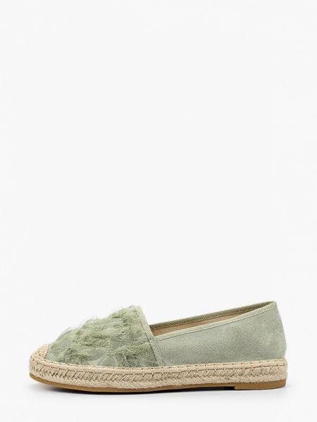 Текстильные зеленые туфли Ideal Shoes