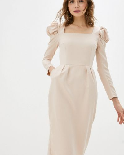 Бежевое платье-футляр Trendyangel