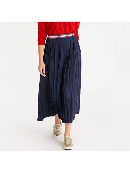 Расклешенная синяя юбка макси с поясом ниже колена Harris Wilson