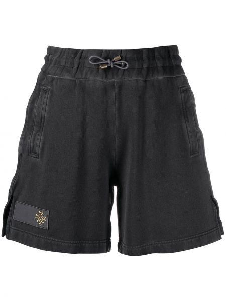 Хлопковые шорты - черные Mr & Mrs Italy