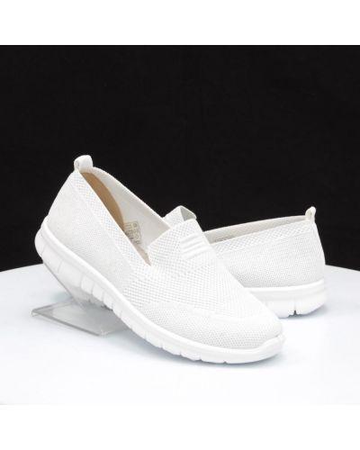 Кожаные белые слипоны Inblu