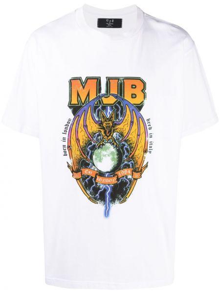 Biały t-shirt krótki rękaw bawełniany Mjb Marc Jacques Burton
