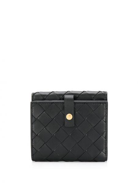Кожаный кошелек черный джинсовый Bottega Veneta