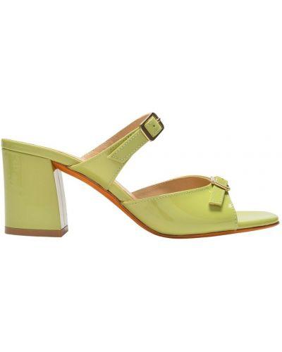 Sandały skórzane - zielone Maryam Nassir Zadeh