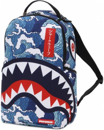 Z paskiem niebieski plecak na paskach Sprayground