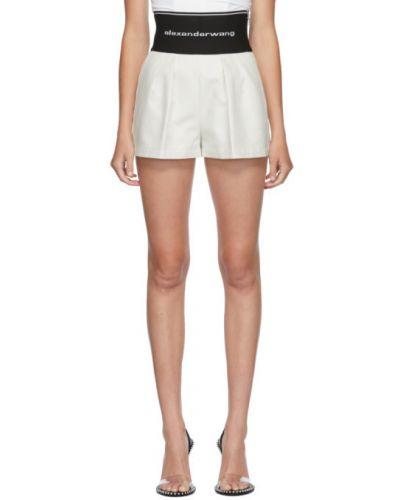 Bawełna biały bawełna szorty z kieszeniami Alexander Wang