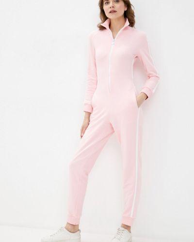 Розовый брючный комбинезон Pink Frost