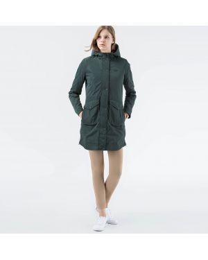 Куртка на молнии зеленая Lacoste
