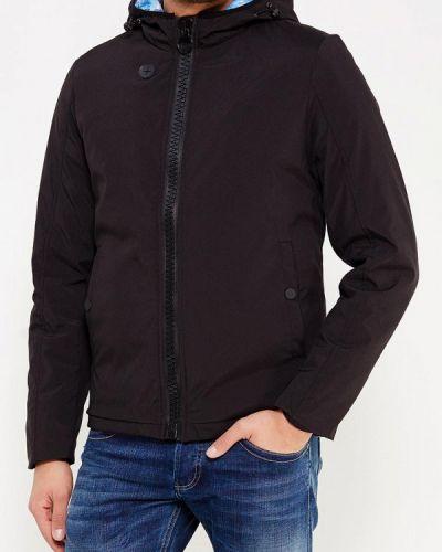 Утепленная куртка демисезонная черная Gianni Lupo