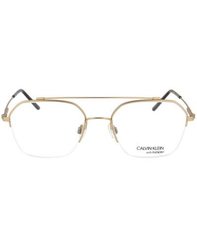 Żółte złote okulary Calvin Klein