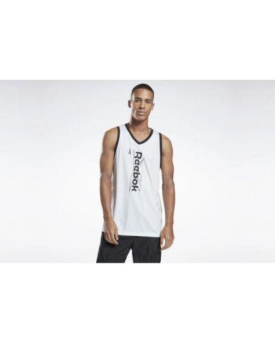 T-shirt bez rękawów - biała Reebok