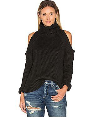 Черный акриловый свитер в рубчик J.o.a.