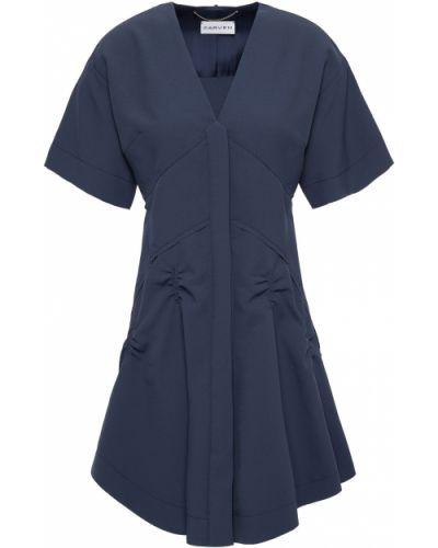 Sukienka rozkloszowana - niebieska Carven